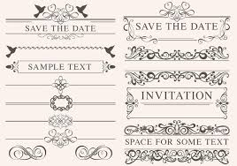 vintage wedding ornament vectors free vector stock