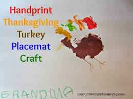 crafting said simply handprint thanksgiving turkey placemat