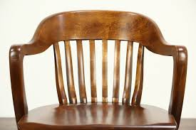 Sold Desk Office Or Library Chair With Arms 1940 Vintage