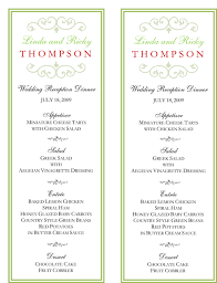 wedding buffet menu ideas printable menu card morningperson co
