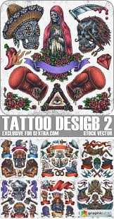 stock vectors tattoo design 2 25xeps free download vector