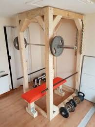 Diy Wood Squat Rack Plans by Diy Power Rack With Lat Pulldown Fitness Stuff Pinterest Diy