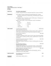 Resume For Painter Cover Letter Maintenance Resume Samples Resume Samples Of