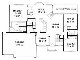 ranch style house plan 3 beds 2 00 baths 1764 sq ft plan 58 198