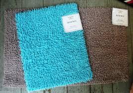 Turquoise Brown Rug Dark Teal Bathroom Rugs Roselawnlutheran