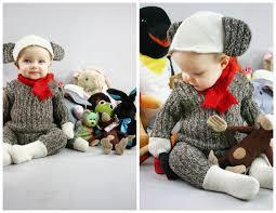 sock monkey costume grosgrain thrift store thursday sock monkey baby costume