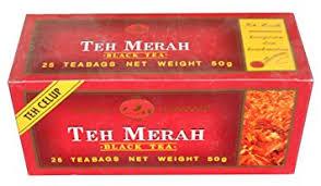 kepala jenggot teh merah black tea 25 ct grocery