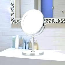 magnifying mirror for bathroom 20x magnifying mirror lighted magnifying makeup mirror double side