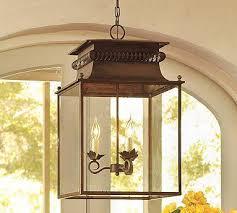 Pottery Barn Lantern Lantern Wood Pendant