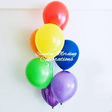 balloon bouquet rainbow balloon bouquet sunday morning celebrations