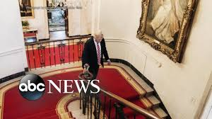 trump redecorates white house with gold walls chandelier youtube