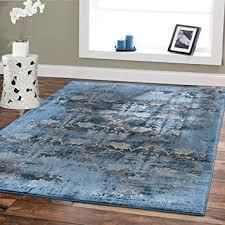 Modern Blue Rugs Premium Soft 8x11 Modern Rugs For Dining Room Blue
