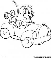 printable coloring pages mouse driving car printable coloring
