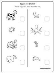kids worksheets find bigger or smaller worksheet for kids