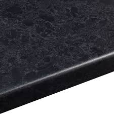 B And Q Flooring Laminate 38mm Midnight Granite Laminate Black Satin Stone Effect Round Edge