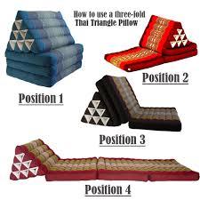 Mattress Cushion Jumbo Size Thai Triangle Fold Out Mattress Cushion Day Bed Three