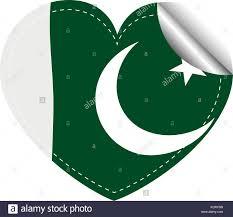 Oakistan Flag Sticker Design For Pakistan Flag Illustration Stock Vector Art