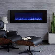 Electric Wall Fireplace Real Dinatale 50 In Wall Mount Electric Fireplace In Black