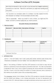 5 software test plan template free word excel pdf documents
