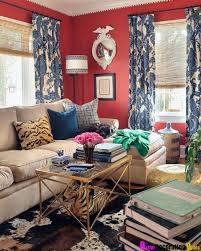 Red And Blue Living Room Best Home Design Ideas - Red and blue living room decor