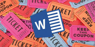 to get a free raffle ticket template for microsoft word