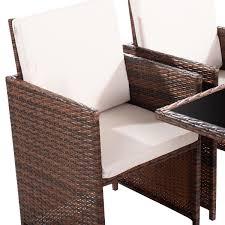 9 pcs outdoor rattan wicker cushioned sofa outdoor furniture