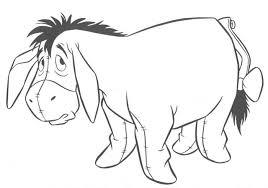 winnie pooh coloring pages eeyore fred u0027s corner