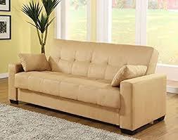 Yellow Sofa Bed Amazon Com Pearington Mia Sofa U0026 Couch Sleeper Bed Java Kitchen