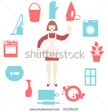 House Flat Design House Work Icons Vector Illustration Flat Stock Vector 211376125
