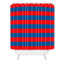 Rugby Stripe Curtains by Holli Zollinger Rugby Stripe Shower Curtain Deny Designs