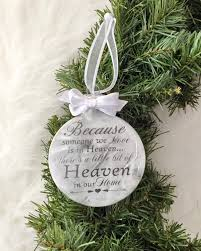 personalized because someone we love is in heaven ornament