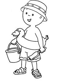 caillou rosie cat gilbert coloring coloring sun