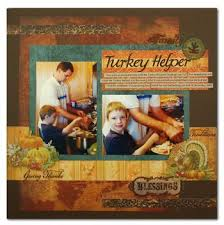 8 clever ideas for thanksgiving scrapbook pages the