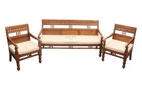 Wooden Carving Furniture Sofa Carved Teak Sofa Set In Elegant Design For Your Living Room