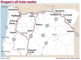 Map Of Bend Oregon by Oil Train Traffic Increases Through Bend Klamath Falls And Along