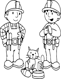 bob the builder cat and friends coloring page wecoloringpage