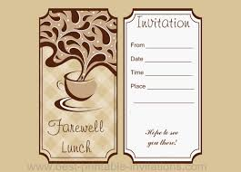 lunch invitation farewell lunch invitation