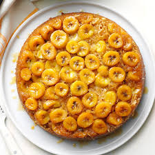 banana skillet upside down cake recipe taste of home