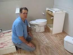 how to install basement toilet hidden plumbing in less than 2