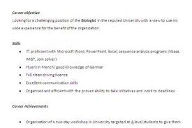 internship resume biology resume for internship 998 samples 15