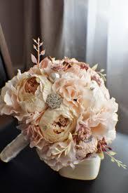 silk wedding bouquet peony bridal bouquet silk wedding flowers brooch bouquet