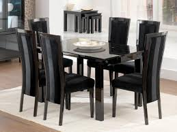 Black Glass Extending Dining Table 6 Chairs Black Dining Table Set Sorrentos Bistro Home