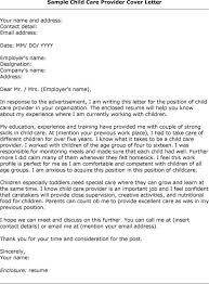 child caretaker cover letter