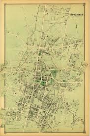 Mass Map Antique Old Atlas Map Print Stoneham Center Massachusetts Ma