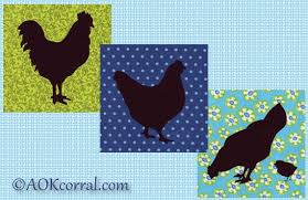 chicken applique patterns with rooster hen and