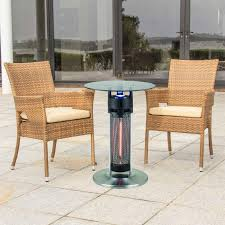 Table Patio Heaters Energ 1400w Electric Infrared Bistro Table Patio Heater With Led