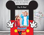 mickey mouse photo booth mickey mouse photo booth photo booth frame printable diy photo