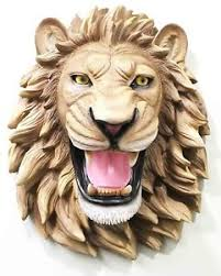 roaring lion statue jungle king roaring lion bust hanging wall mount home decor
