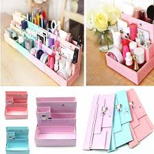 Desk Decor by Diy Paper Board Storage Box Desk Decor Stationery Makeup Cosmetic