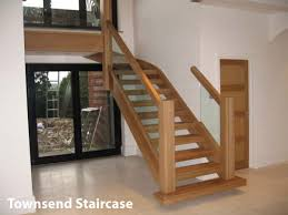 contemporary oak townsend staircase glass balustrade high